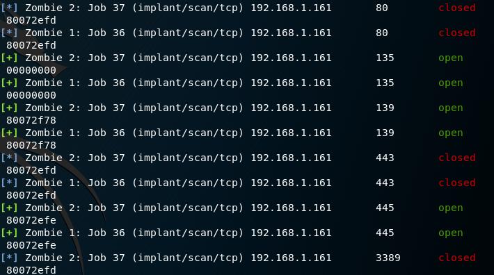 Koadic - TCP Scanner Results