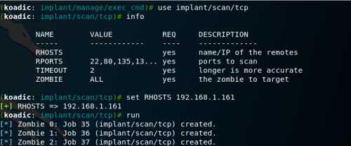 Koadic - TCP Scanner