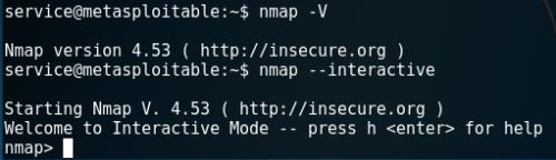 Nmap - Interactive Mode