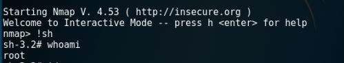 Root Shell via SUID Nmap