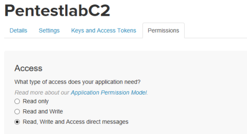 Twittor - Access Permissions