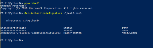 Authenticode Signature - PowerShell Script with Digital Signature
