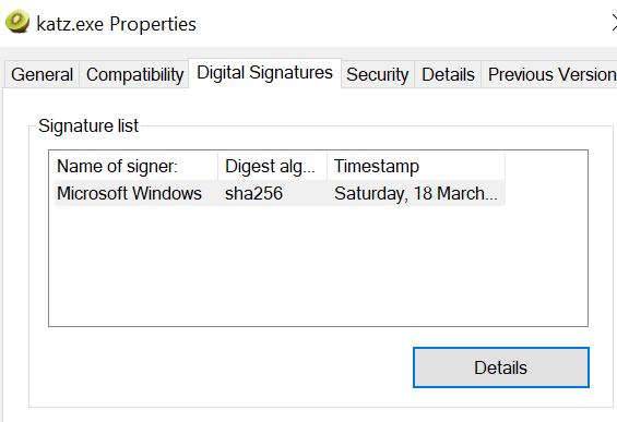 Malicious Binary with Trusted Certificate