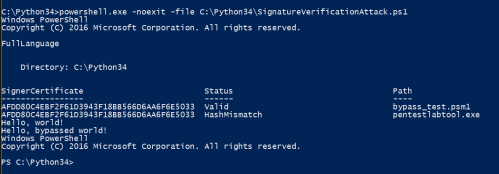 Signature Verification Attack - PowerShell Script