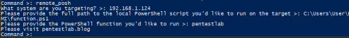 WMImplant - Execution of PowerShell Scripts