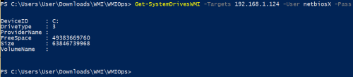 WMIOps - System Drive Information  - wmiops system drive information - Command and Control – WMI