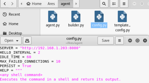 Ares - Agent Configuration  - ares agent configuration - Command and Control – Web Interface