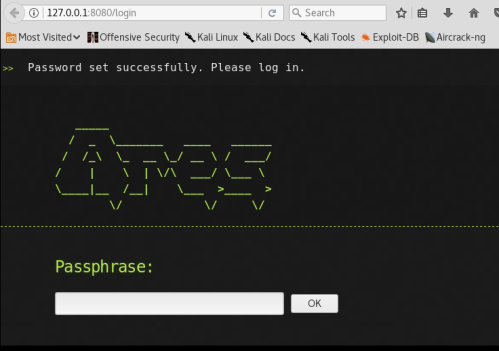 Ares - Passphrase  - ares passphrase - Command and Control – Web Interface