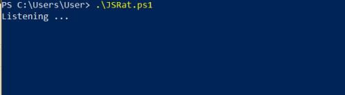 JSRat PowerShell - Server Listening