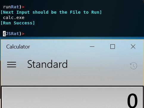 JSRat - Run Executables