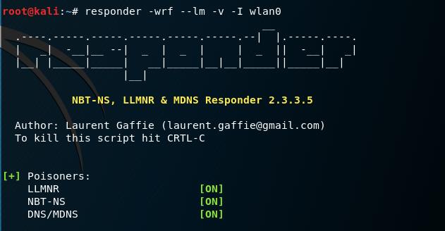Responder - Parameters for SCF