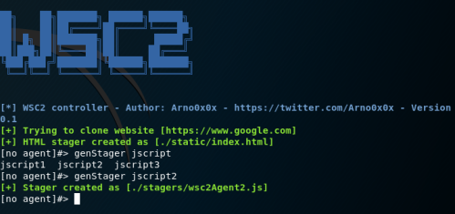 WSC2 - Generation of Stagers  - wsc2 generation of stagers - Command and Control – WebSocket