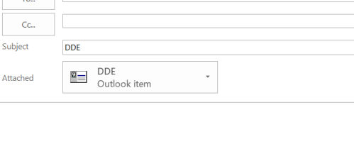 Outlook - Foward Contact with DDE