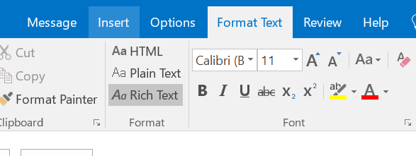 Outlook Message - DDE in Rich Text