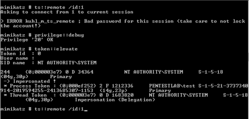 Mimikatz - RDP Session Hijacking