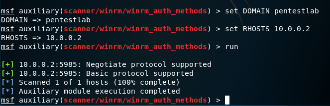 Metasploit - WinRM Auth Methods