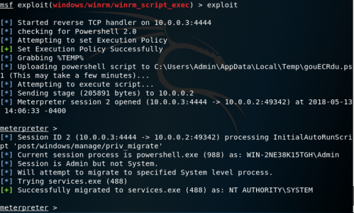 Metasploit - WinRM Code Execution  - metasploit winrm code execution - Lateral Movement – WinRM | Penetration Testing Lab