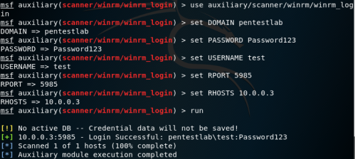 Metasploit - WinRM Discovery of Credentials