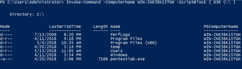 WinRM - Command Execution  - winrm command execution - Lateral Movement – WinRM | Penetration Testing Lab