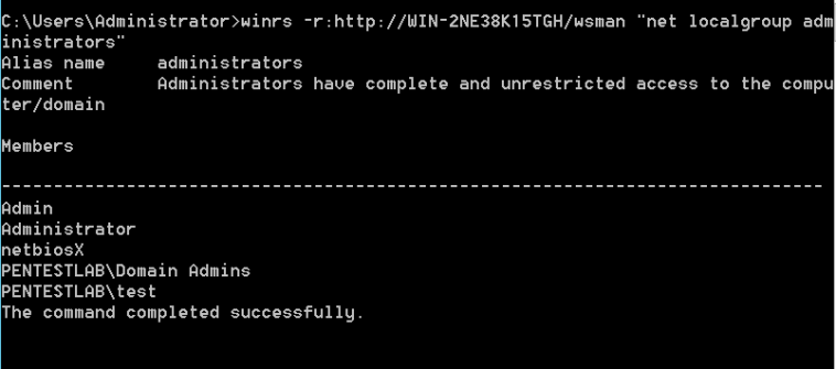 WinRS - Command Execution
