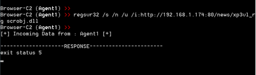 Browser C2 - Code Execution via regsvr32 PoshC2  - browser c2 code execution via regsvr32 poshc2 - Command and Control – Browser