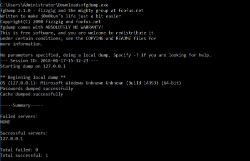 fgdump - Domain Controller
