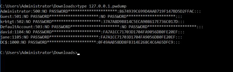 fgdump - pwdump File