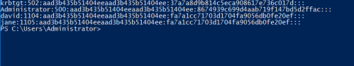 Invoke-DCSync - PowerShell PWDump Format